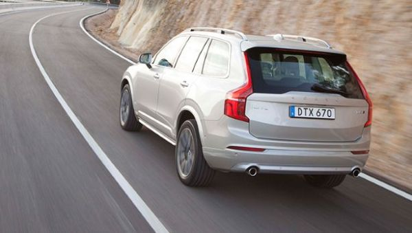Rear View of 2015 Volvo - XC90 T8