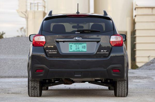 Rear View of Subaru XV Crosstrek 2015