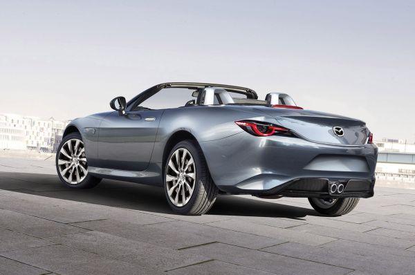 2016 Mazda MX-5 Miata convertible - Side and Rear View