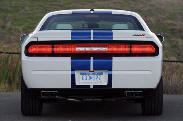Rear View of 2015 Dodge Challenger
