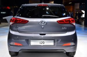 Rear View of 2015 Hyundai i20