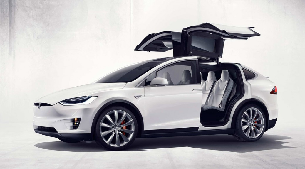 2017 Tesla Model X SUV- Whote Side view