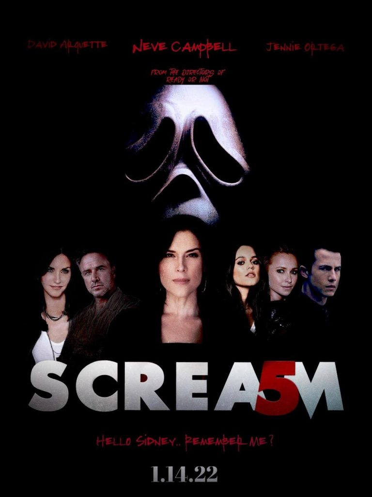 scream 5 movie poster 2022 with cast