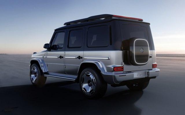 2023 mercedes-benz electric g-class eqg suv concept rear view