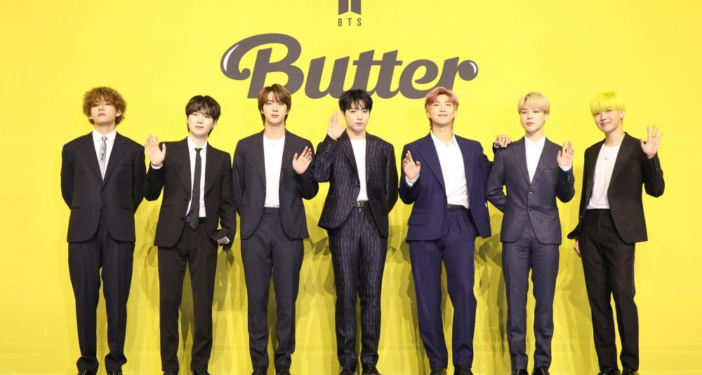 BTS – Butter Poster with band posing