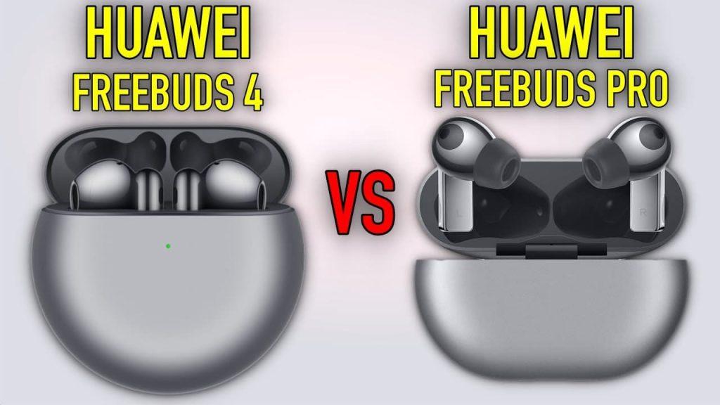 Huawei Freebuds 4 vs Huawei Freebuds Pro