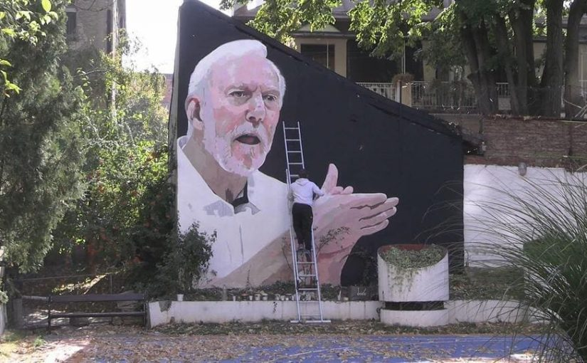 Gregg Popovich Spurs coach gets a Mural