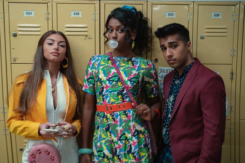 Sex Education Season 3 Netflix three people in school