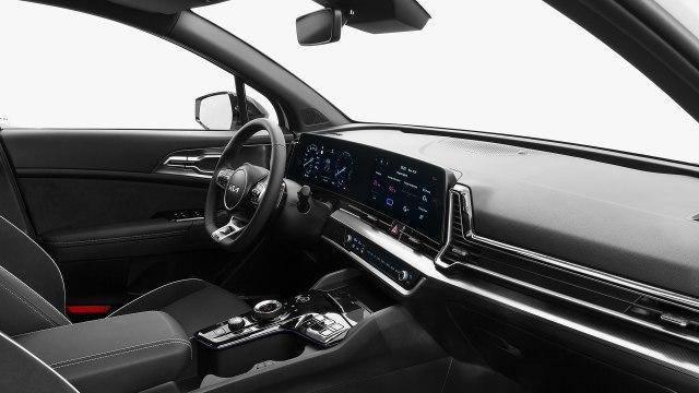 New 2022 Kia Sportage Hybrid SUV interior view