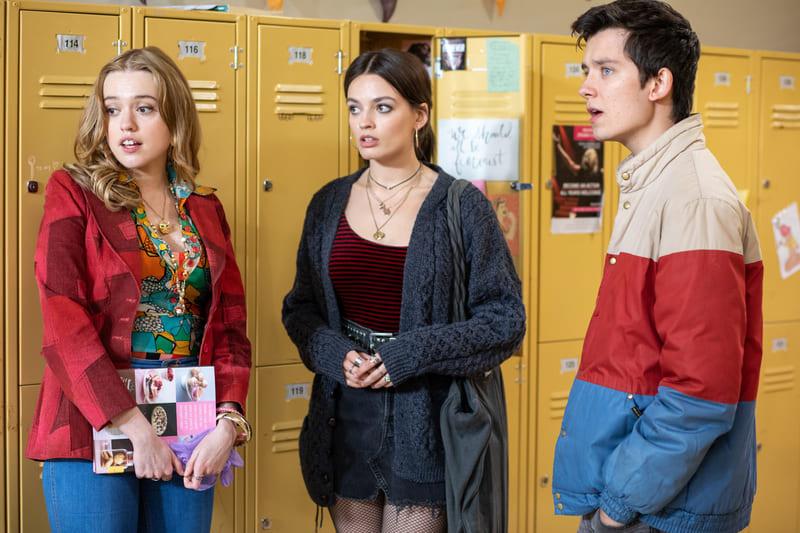 Sex Education Season 3 Netflix cast three people