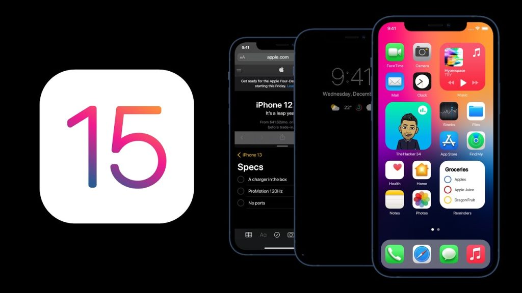Apple iOS 15 Update with Iphone