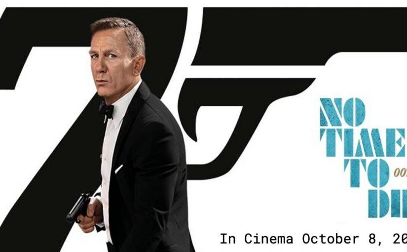 Daniel Craig as James Bond movie No Time To Die Poster