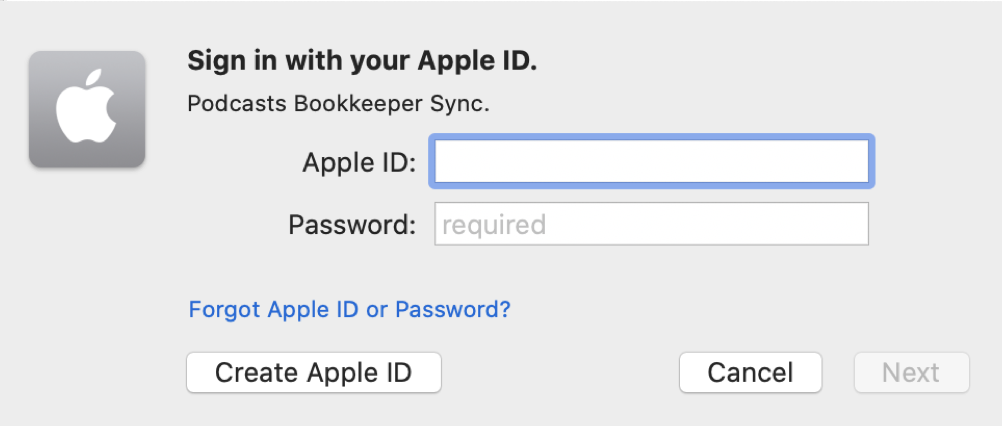Sign in with your Apple ID Pop up Macbook pro