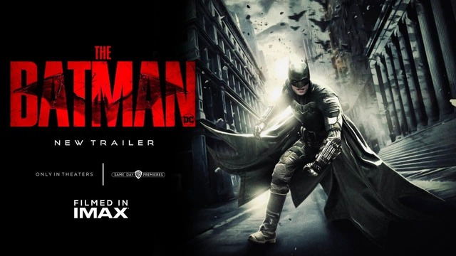 The Batman 2022 Movie trailer poster